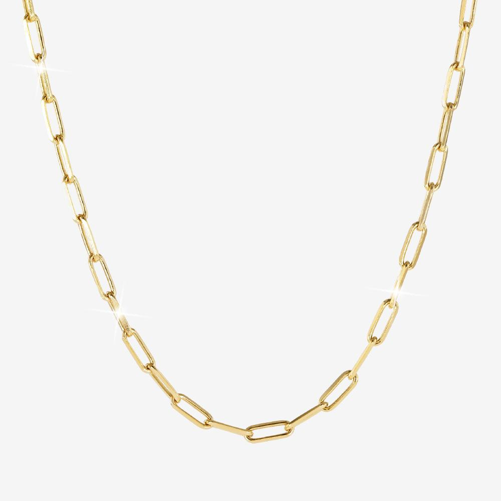 18ct Gold Vermeil on Silver Paper Clip Chain Necklace