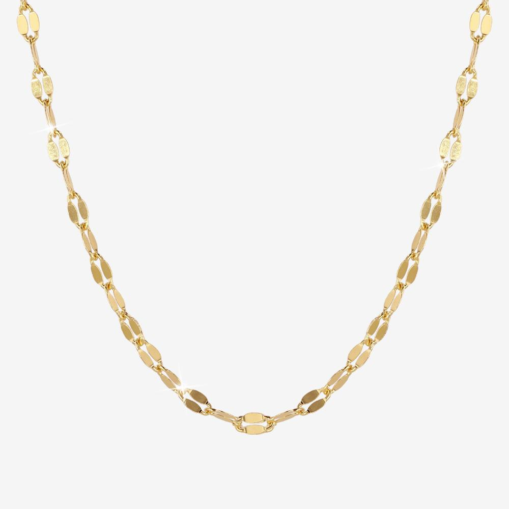 18ct Gold Vermeil on Silver Sparkle Mirror Chain