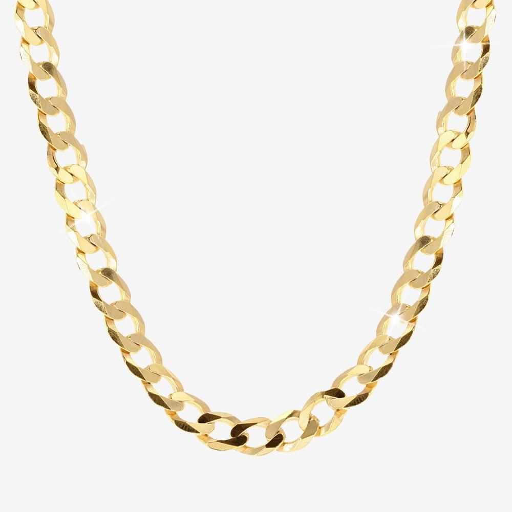 "18ct Gold Vermeil on Silver 24"" Solid Curb Chain"