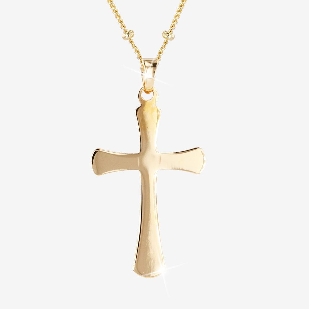 18ct Gold Vermeil on Silver Cross Necklace