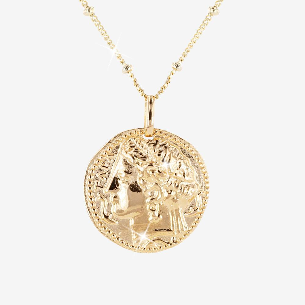 18ct Gold Vermeil on Silver Goddess Pendant Charm Necklace