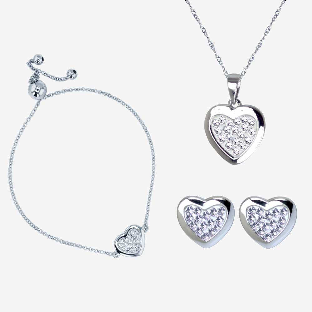 Sterling Silver Tania Collection Made With Swarovski<sup>&reg;</sup> Crystals