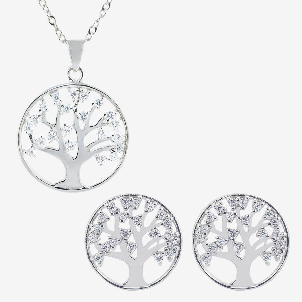 Sterling Silver Life's Tree DiamonFlash<sup>®</sup> Cubic Zirconia Collection