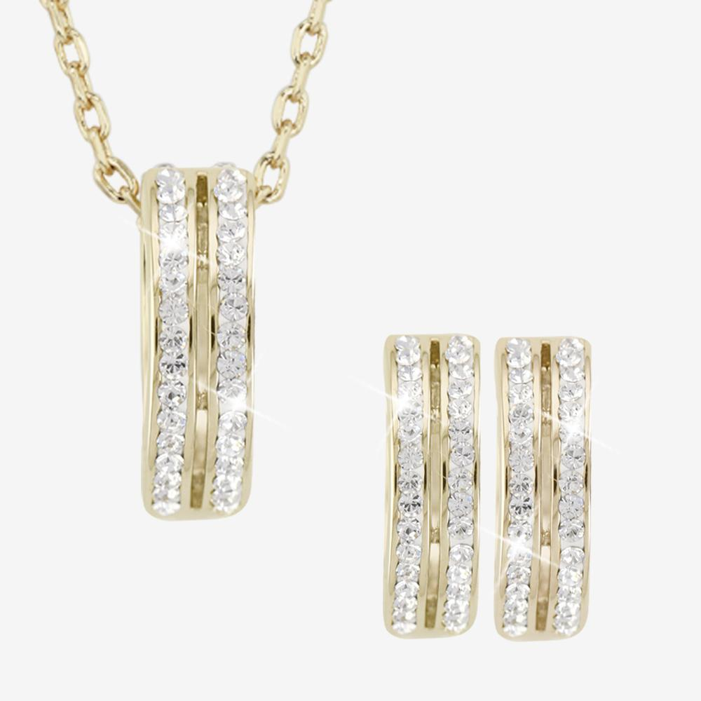 Fortuna Gold Finish Collection Made With Swarovski<sup>®</sup> Crystals