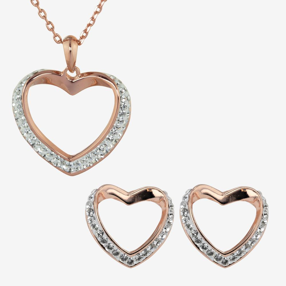 Petra Heart Collection Made With Swarovski<sup>®</sup> Crystals