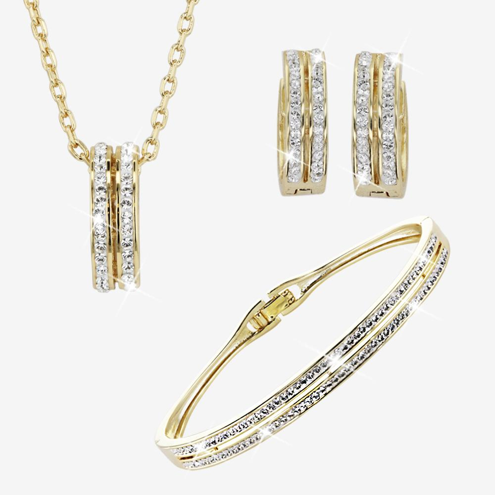Fortuna Gold Finish Collection Made With Swarovski® Crystals