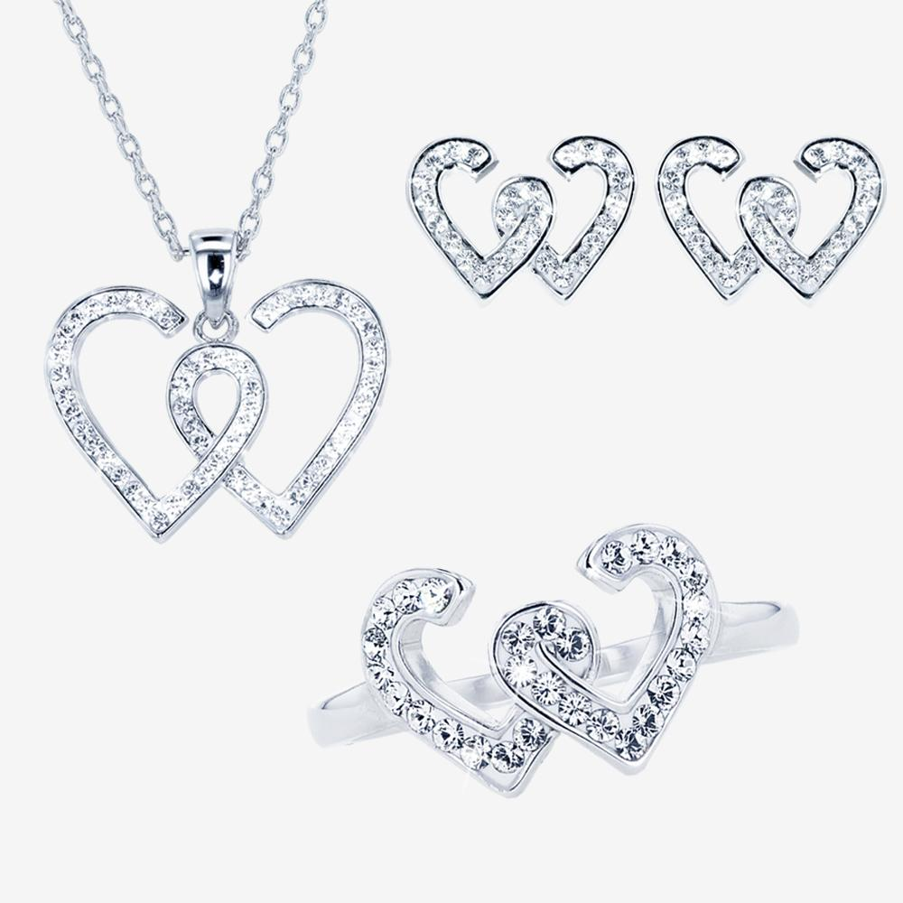 Entwined Heart Collection Made With Swarovski® Crystals