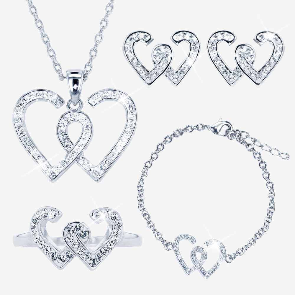 The Entwined Heart Collection made with Swarovski® Crystals