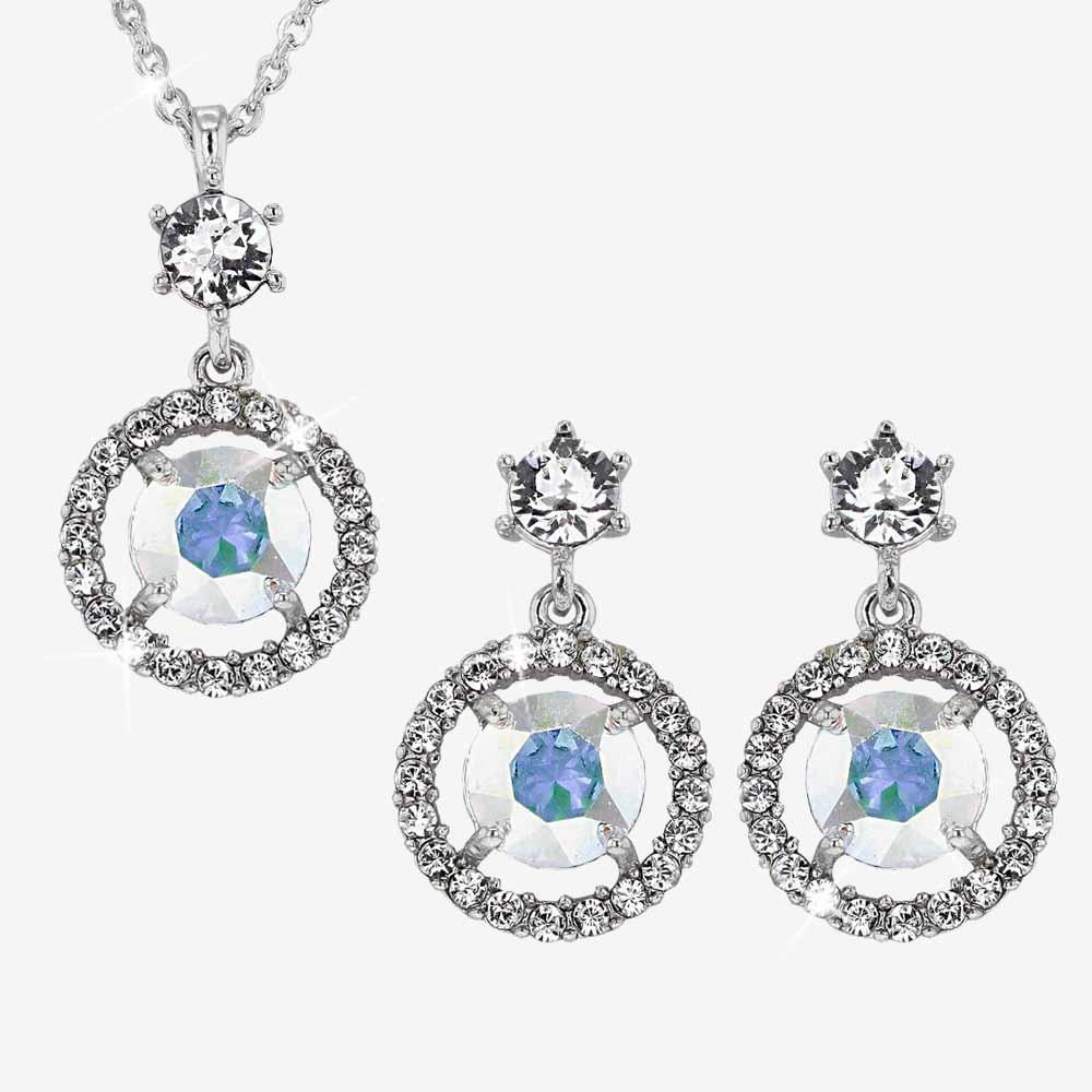 The Aurora Halo Collection made with Swarovski® crystals