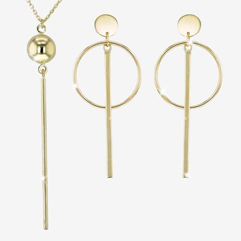 The 9ct gold Geometric Collection