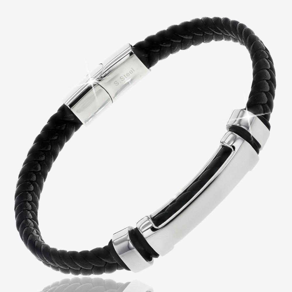 Men's Steel ID Bracelet | Warren James