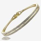 Fortuna Gold Finish Bangle Made With Swarovski<sup>®</sup> Crystals