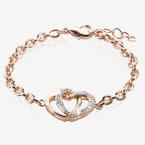 The Petra Rose Heart Bracelet Made With Swarovski® Crystals
