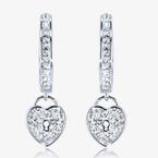 Padlock Earrings Made With Swarovski Crystals®