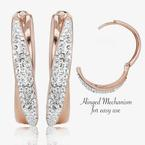 Rose Gold Finish Lucille Cross-Over Earrings Made With Swarovski Crystals<sup>®</sup>