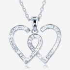 Entwined Heart Necklace Made With Swarovski<sup>&reg;</sup> Crystals
