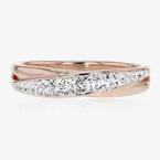 Rose Gold Finish Lucille Designer Ring Made With Swarovski<sup>&reg;</sup> Crystals