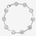 Amelia Sterling Silver DiamonFlash<sup>®</sup> Cubic Zirconia Bracelet