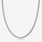Ladies Sterling Silver 24 inch Popcorn Chain