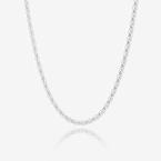 Ladies Sterling Silver 30 inch Popcorn Chain