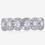 Sterling Silver DiamonFlash® Cubic Zirconia Halo Band Ring