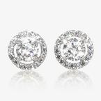 The Amelia Sterling Silver DiamonFlash<sup>®</sup> Cubic Zirconia Stud Earrings