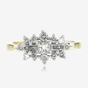 18ct Gold Diamond Cluster Ring .50ct