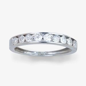 9ct White Gold (Round Cut) Diamond Eternity Ring