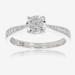 Miracle Setting 9ct White Gold Diamond Ring