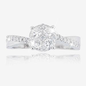 9ct White Gold Diamond Ring .50ct