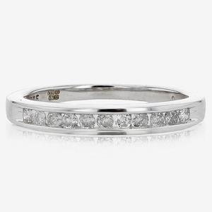 9ct White Gold .25cts Diamond Eternity Ring