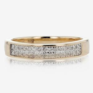 9ct Gold Diamond Band Ring