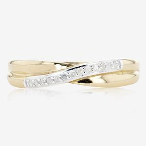9ct Gold Half Eternity Diamond Ring