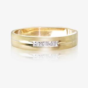 9ct Gold & Diamond Ladies Wedding Ring 4mm