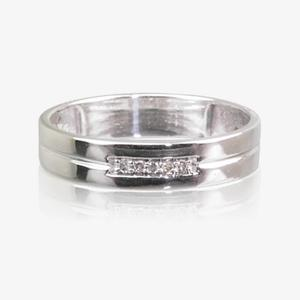 9ct White Gold Diamond Ladies Wedding Ring 4mm