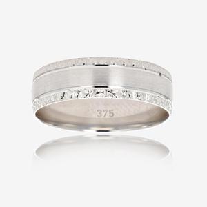 9ct White Gold Luxury Weight Menu0027s Wedding Ring 6mm