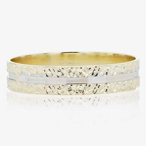 9ct Gold Ladies Two Colour Wedding Ring