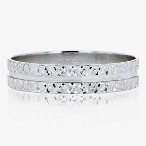 9ct White Gold Ladies Wedding Ring