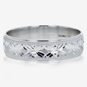 9ct White Gold Luxury Weight Ladies Wedding Ring