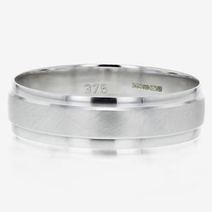 9ct White Gold Men's Band Ring