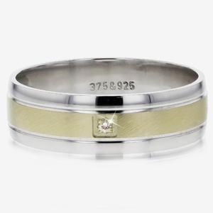 88149e16a3b NEW 9ct Gold And Silver Men's Heavyweight Diamond Band