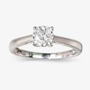 Pure Brilliance Certificated Diamond Solitaire Ring .33ct