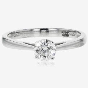 Cheap Sale 0.5ct South Korea Style Excellent Round Cut Synthetic Diamonds Engagement Ring Bridal Jewelry Gift Affordable High Quality With A Long Standing Reputation Wedding & Engagement Jewelry