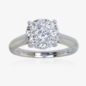 Pure Brilliance Certificated Diamond Ring .75cts