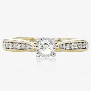 Pure Brilliance Certificated Diamond Solitaire Ring .25ct