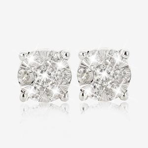 9ct White Gold Pure Brilliance Certificated Diamond .25ct Earrings