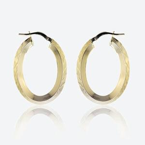 Tania 9ct Gold Creole Earrings