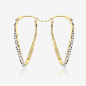 9ct Gold Twist Creoles Made With Swarovski® Crystals