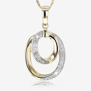 9ct Gold Diamond Necklace