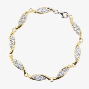 Channelle 9ct Gold & Silver Bonded Bracelet Made With Swarovski<sup>&reg;</sup> Crystals